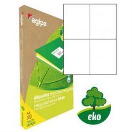 Etikety univerzálne recyklované 105x148,5mm Agipa A4 100 hárkov AG101193
