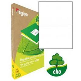 Etikety univerzálne recyklované 210x148,8mm Agipa A4 100 hárkov AG101194
