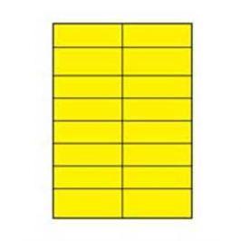 Etikety farebné 105x37mm Agipa A4 100 hárkov žlté AG119881