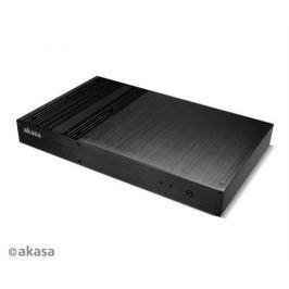 Skrinka AKASA Galileo + 120W adaptér bez loga pasiv AK-ITX09M-12EU
