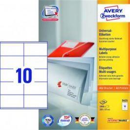 Etikety univerzálne 105x57mm Avery A4 100 hárkov AV003425