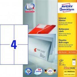 Etikety univerzálne 105x148mm Avery A4 100 hárkov AV003483