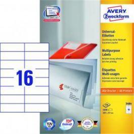 Etikety univerzálne 105x37 mm Avery A4 100 hárkov AV003484