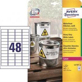 Etikety polyesterové 45,7x21,2mm Avery A4 biele 20 hárkov AV477820
