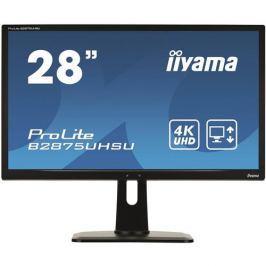 Monitor iiyama B2875UHSU-B1, 28'', LCD, TN, 1ms, 300cd/m2/1000:1, 4K, HDMI, DP, DVI, 2xUSB, repro, výš.nastav, čierny