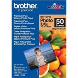 Papier BROTHER BP71 foto lesklý 10x15/50ks BP71GP50