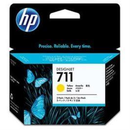 Kazeta HP CZ136A č. 711 žltá, 29 ml - 3 ks v balení