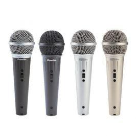 Mikrofón Superlux D103/13X dynamický, spevový s vypínačom, 50Hz-15kHz, 5m XLR kábel - strieborný