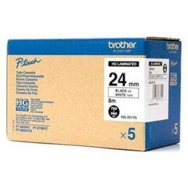 Páska BROTHER HG251 Black On White HQ Tape (24mm) HG251V5