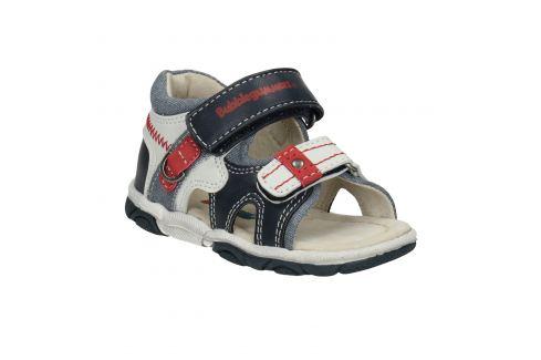Modro-biele detské sandále