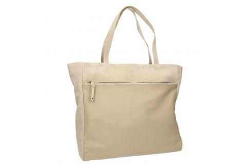 Kožená kabelka s vreckom