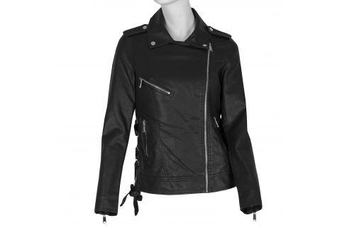 Koženková bunda v motorkárskom štýle