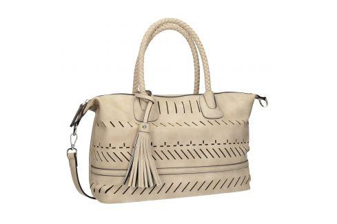 Dámska kabelka s perforáciou a strapcom