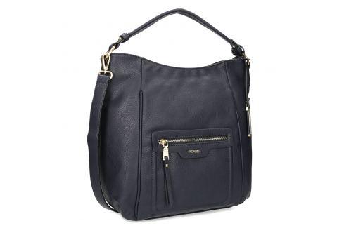 Tmavomodrá Hobo kabelka so zlatými detailami