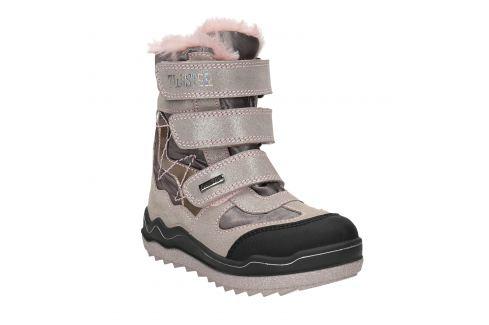 Ružová dievčenská zimná obuv