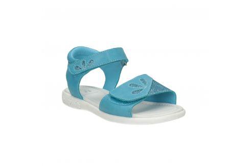 Dievčenské tyrkysové sandále