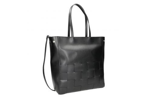 Čierna kabelka s prepletaním