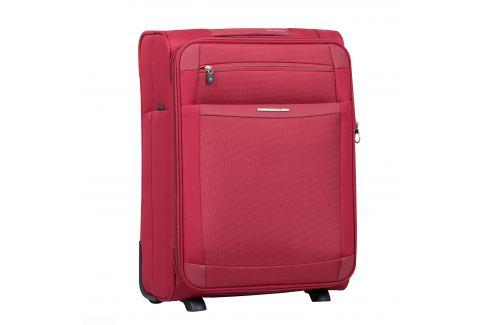 Červený cestovný kufor