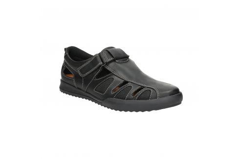 Pánske kožené sandále s prešitím
