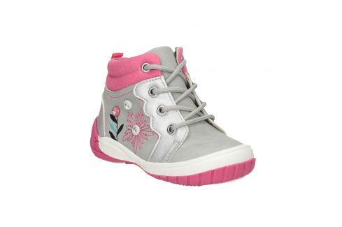 Členková detská obuv s výšivkou