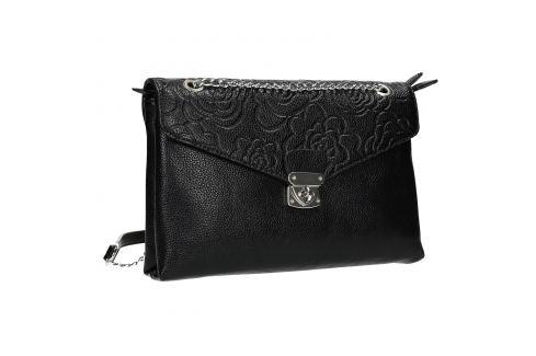 Menšia čierna kabelka s klopou