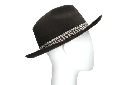 Tmavo hnedý pánsky klobúk
