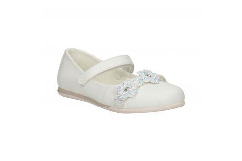 Biele baleríny s kvetmi a trblietkami