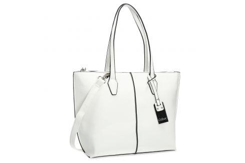 Biela menšia Shopper kabelka