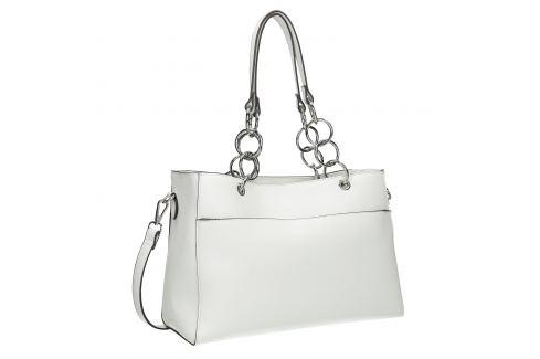 Biela kabelka s retiazkou