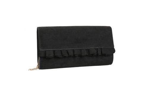 419df233d5 Čierna listová kabelka s volánom - shopovanie.sk