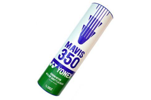 Bedmintonové košíky Yonex Mavis 350 White (dóza po 6 ks)