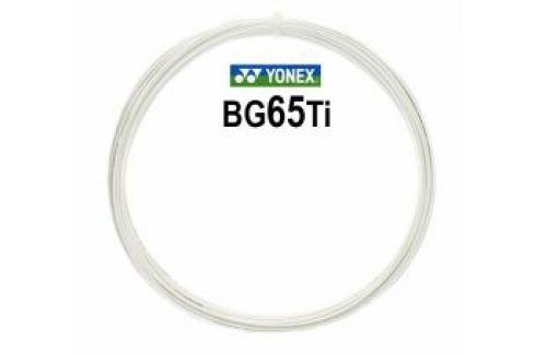Bedmintonový výplet Yonex Micron BG65Ti White (0.70 mm)