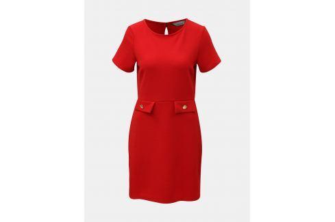 09fad115f0d4 Červené šaty s detailmi v zlatej farbe Dorothy Perkins Petite ...