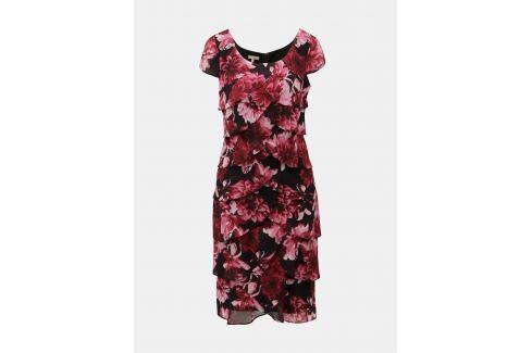 93a48de43b63 Čierno–vínové kvetované šaty s volánmi M Co - shopovanie.sk