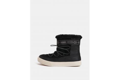 4e4fd93447fa3 Čierne dámske kožené zimné členkové topánky TOMS Alpine - shopovanie.sk