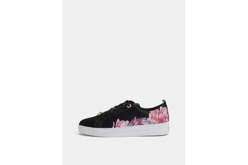 d6e159d6f1b Ružovo–čierne dámske kvetované tenisky Ted Baker - shopovanie.sk