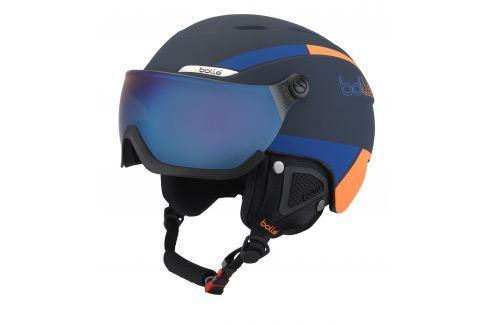 Lyžiarska prilba BOLLE B-Yond Visor Navy   Orange - 17 18 Čierno-modrá  58-61 cm 0f363745b1e