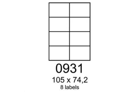 Etikety RAYFILM 105x74,2 univerzálne biele R01000931A (100 list./A4) R0100.0931A