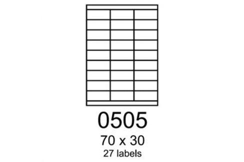 Etikety RAYFILM 70x30 vysokolesklé biele laser R01190505A R0119.0505A