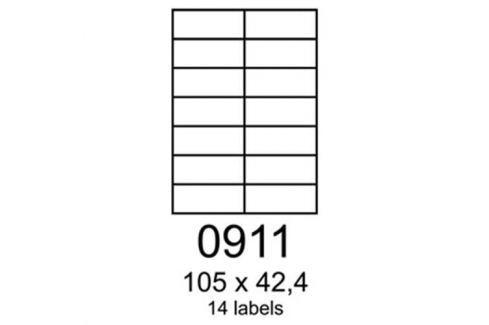 Etikety RAYFILM 105x42,4 univerzálne červené R01220911F (1.000 list./A4) R0122.0911F