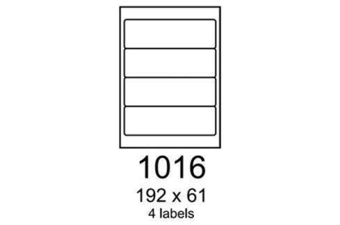 Etikety RAYFILM 192x61 univerzálne červené R01221016A R0122.1016A
