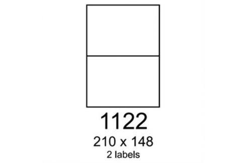 Etikety RAYFILM 210x148 univerzálne červené R01221122F R0122.1122F