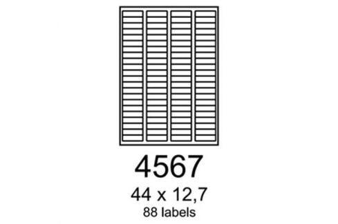 Etikety RAYFILM 44x12,7 univerzálne červené R01224567A R0122.4567A