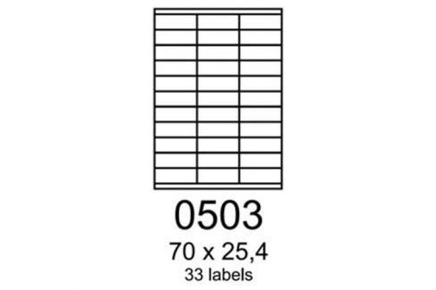 Etikety RAYFILM 70x25,4 univerzálne modré R01230503A R0123.0503A