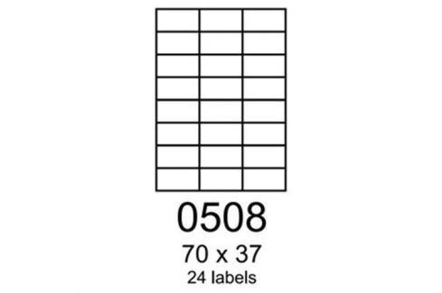 Etikety RAYFILM 70x37 univerzálne modré R01230508A R0123.0508A
