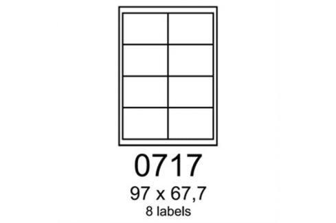 Etikety RAYFILM 97x67,7 univerzálne modré R01230717A (100 list./A4) R0123.0717A