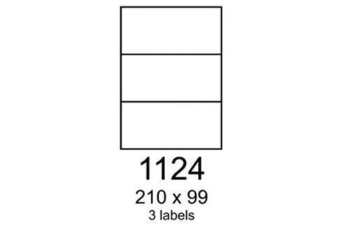 Etikety RAYFILM 210x99 univerzálne modré R01231124A R0123.1124A