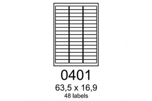 Etikety RAYFILM 63,5x16,9 zelené flourescentné laser R01300401A R0130.0401A