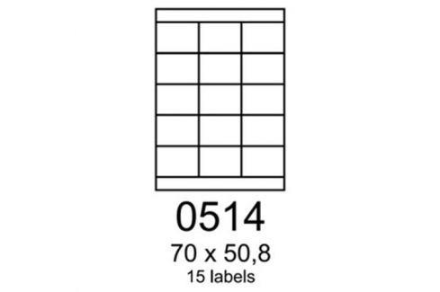 Etikety RAYFILM 70x50,8 zelené flourescentné laser R01300514A R0130.0514A