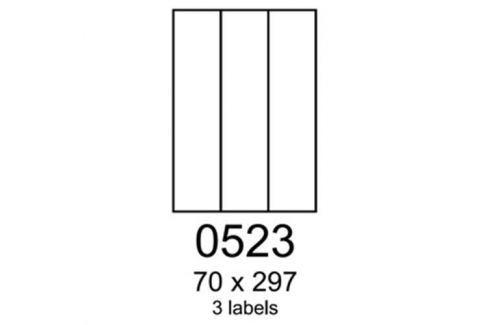 Etikety RAYFILM 70x297 zelené flourescentné laser R01300523A R0130.0523A